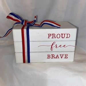 4th of July Book Stack Decoration Tiered Tray